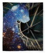 The Astronomer's Cat Fleece Blanket