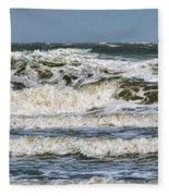 The Atlantic Ocean At Sullivan's Island Fleece Blanket