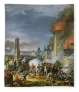 The Attack And Taking Of Ratisbon, 23rd April 1809, 1810 Oil On Canvas Fleece Blanket