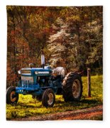 The Autumn Blues Fleece Blanket