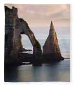 The Aval Door In Etretat  France  Fleece Blanket