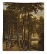 The Avenue Of Birches Fleece Blanket