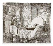 The Bachelor, Illustration From Pont An Fleece Blanket