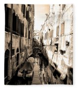 The Back Canals Of Venice Fleece Blanket