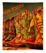 The Back Forty Boots Are Made For Dancin' Fleece Blanket