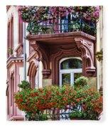 The Balcony Flowers Fleece Blanket
