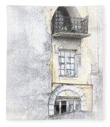 The Balcony Scene II Fleece Blanket