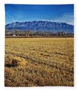 The Bale - Sandia Mountains - Albuquerque Fleece Blanket