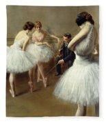 The Ballet Lesson Fleece Blanket