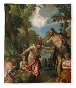 The Baptism Of Christ Fleece Blanket