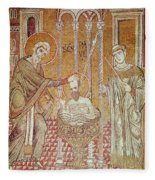 The Baptism Of St. Paul By Ananias, From Scenes From The Life Of St. Paul Mosaic Fleece Blanket