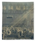 The Baptism Of The King Of Rome 1811-32 At Notre-dame, 10th June 1811, After 1811 Engraving Fleece Blanket