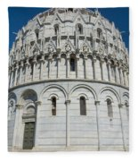 The Baptistery In Pisa  Fleece Blanket