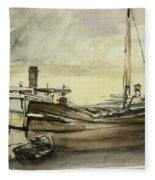 The Barge Fleece Blanket