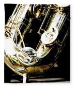 The Baritone Saxophone  Fleece Blanket