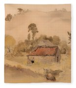 The Barns Fleece Blanket