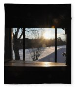 The Basement Window Fleece Blanket