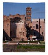 The Basilica Of Constantine Fleece Blanket