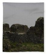 The Battered Remains Of The Urquhart Castle In Scotland Fleece Blanket