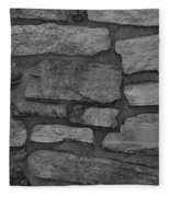 The Battery Wall In Black And White Fleece Blanket