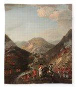 The Battle Of Glen Shiel 1719 Fleece Blanket