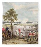 The Battle Of Goojerat On 21st February Fleece Blanket