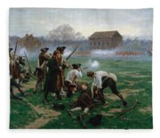The Battle Of Lexington, 19th April 1775 Fleece Blanket