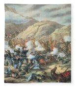 The Battle Of Little Big Horn, June 25th 1876 Fleece Blanket