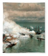 The Battle Of Mobile Bay Fleece Blanket