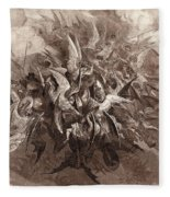 The Battle Of The Angels Fleece Blanket