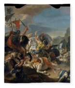 The Battle Of Vercellae Fleece Blanket