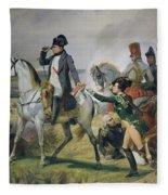 The Battle Of Wagram, 6th July 1809, 1836 Oil On Canvas Fleece Blanket