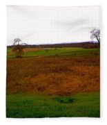 The Battlefield Of Gettysburg Fleece Blanket