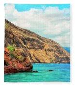 The Bay At Kealakekua Fleece Blanket