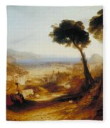 The Bay Of Baiae With Apollo And The Sibyl Fleece Blanket