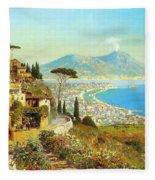 The Bay Of Naples Fleece Blanket