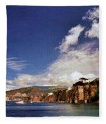 The Bay Of Sorrento Fleece Blanket