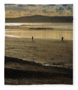 The Beach At Mounts Bay Fleece Blanket