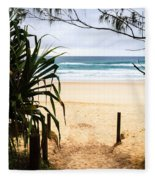 The Beach At Salt Fleece Blanket