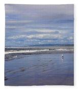The Beach At Seaside Fleece Blanket