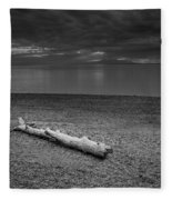 The Beach In Black And White Fleece Blanket