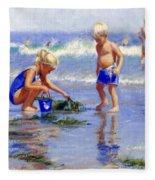 The Beach Pail Fleece Blanket