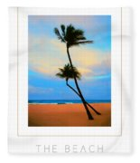 The Beach Poster Fleece Blanket