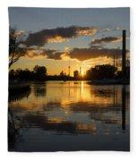 The Beaches Marina At Sunset Fleece Blanket