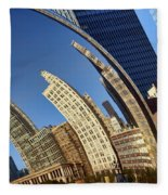The Bean - 1 - Cloud Gate - Chicago Fleece Blanket