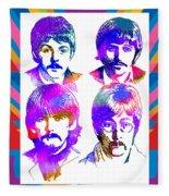The Beatles Art Fleece Blanket