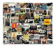 The Beatles Collage Fleece Blanket