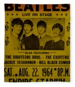 The Beatles First Time In Canada. Fleece Blanket