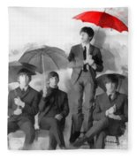 The Beatles - Paul's Red Umbrella Fleece Blanket