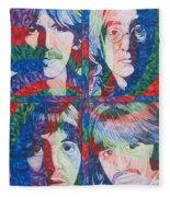 The Beatles Squared Fleece Blanket